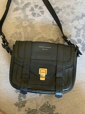 Proenza Schouler Dark Navy/ Black Crossbody Camera Bag Handbag Purse