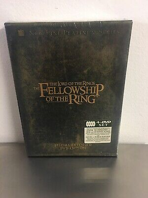 THE LORD OF THE RINGS: The Fellowship of the Ring Special Extended Edition 4 DVD