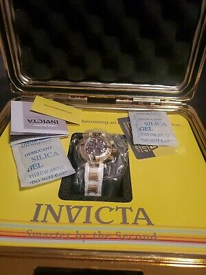 Invicta Mens Watch Subaqua Noma I Limited Gold Tone Purple Abalone Dial Watch
