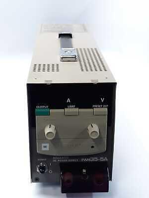 Kikusui Pan35-5a 0-35v 0-5a Regulated Dc Power Supply
