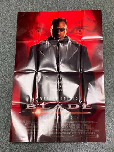 Blade Original Movie Promo Poster (1998) - 27 in W x 40 in W - Folded