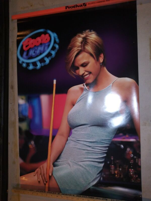 Coors Light 24×36 Women With Pool Que Promo Poster