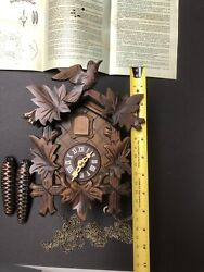 NEW Cuckoo Clock Black Forest Original Schwarzwalduhr German Wood Carving 9""