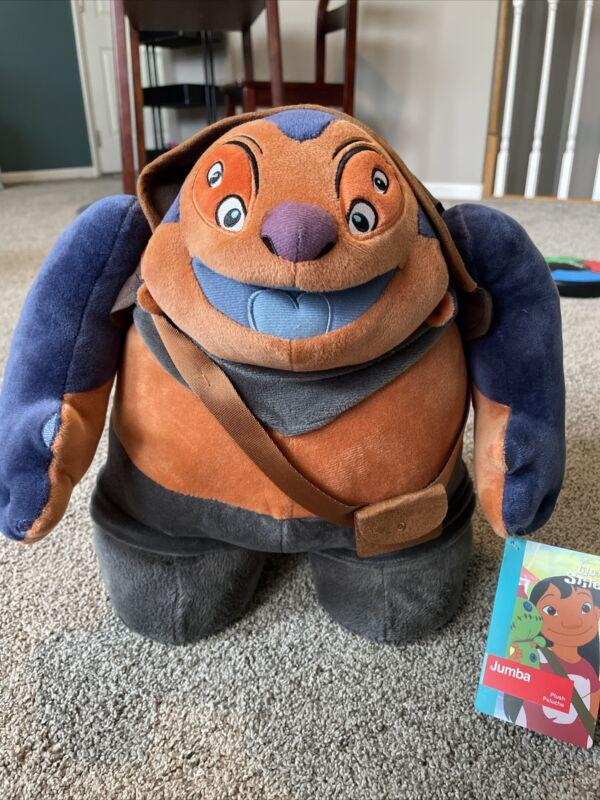 """13"""" DISNEY Store Lilo & Stitch JUMBA Alien Stuffed Animal Plush"""