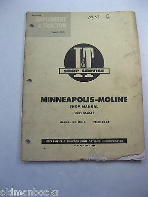 Minneapolis Moline Mm-6 Series Gb-ub-zb It Shop Manual