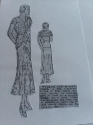 Antique Sewing Pattern- Ladies Dress- #3715
