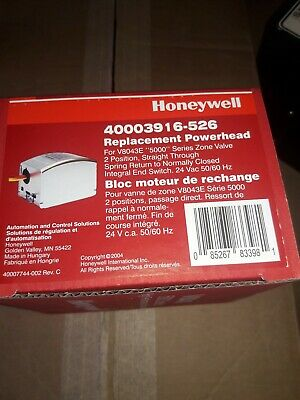New Honeywell 40003916-526 Powerhead For V8043e 5000 Series Zone Valve
