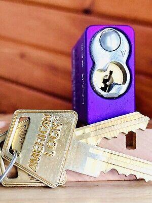 American Series 1100 High Security Padlock w/ 2 Keys Locksport ((Security Pins))
