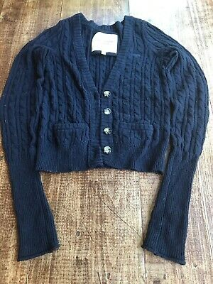 Abercrombie & Fitch Blue Sweater Cardigan Women's Size S