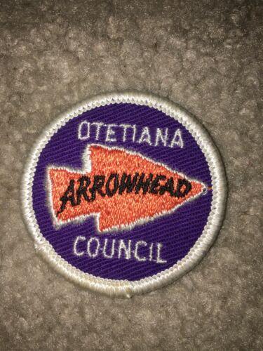 Boy Scout BSA Otetiana New York 50 mm Arrowhead District DP CP Council Patch