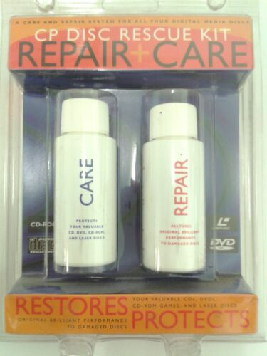 CP DISC RESCUE KIT REPAIR & CARE SYSTEM FOR ALL DIGITAL MEDIA DISCS / BRAND NEW