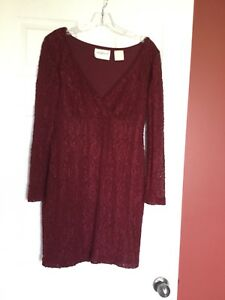 Burgundy embroidery dress lace Victoria secret