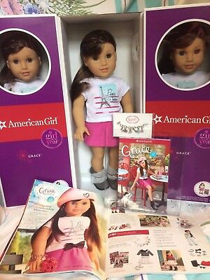 American Girl Grace Thomas 18  Doll Of Year Book Bracelet   Bonus 2015 Catalog