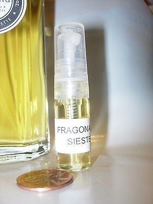 Vetiver Cinnamon Perfume - MENS FRAGONARD SIESTE PERFUME EDT COLOGNE 3 ML SPRAY VIAL VETIVER LEMON CINNAMON