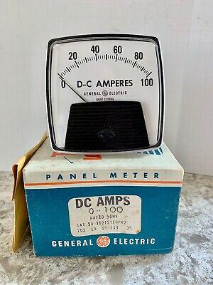 General Electric Ge Dc Amperes 0-100 External Shunt Panel Meter Do-91 Nos Unused