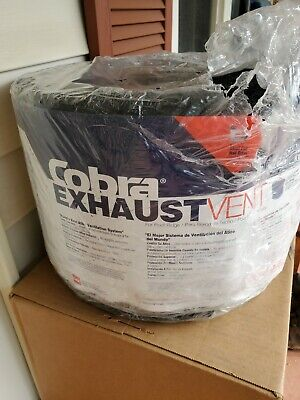 Cobra Exhaust Vent 10-12 Inch X 20 Ft Mesh Roll Ridge Black Attic Ventilation