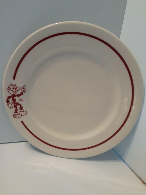 Set of 2 Syracuse china Reddy Kilowatt Plates
