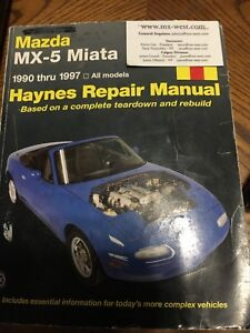 MAZDA MX-5 MIATA HAYNES REPAIR MANUAL