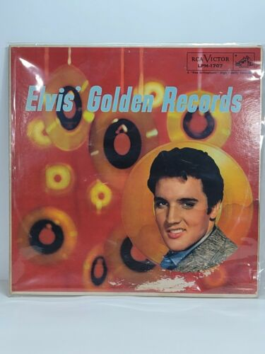 RARE COPY   Elvis' Golden Records LP   RCA Victor LPM-1707   VG+ / M-