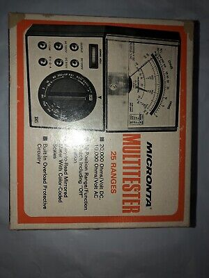 Vintage Radio Shack Micronta 22-202a Multitester With Manual Leads And Box