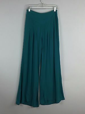 Vintage Bell Bottom Palazzo Pants High Waist 70s Genie Wide Leg Flare Pleated