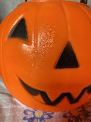 EMPIRE Vintage Blow Mold Jack-O-Lantern Pumpkin Candy Treat Bucket Pail