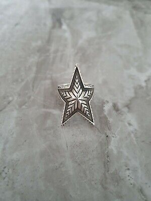 Cody Sanderson Deep Star Ring Sterling Silver Ring 925 US Size 9