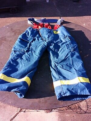 Morning Pride Fire Fighter Turnout Pants 38x27 Wsuspenders 1995