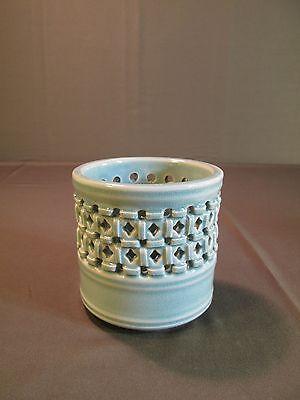 Beautiful Korean Open Work Ceramic ChungJa Brush Holder Pot Vase