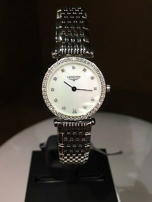 NEW Authentic LONGINES GRANDDES CLASICS L4.241.0 24MM S/S DIAMONDB Box/Papers