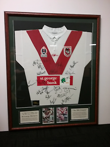 St George Illawarra signed and framed jersey from 2004 Dulwich Hill Marrickville Area Preview
