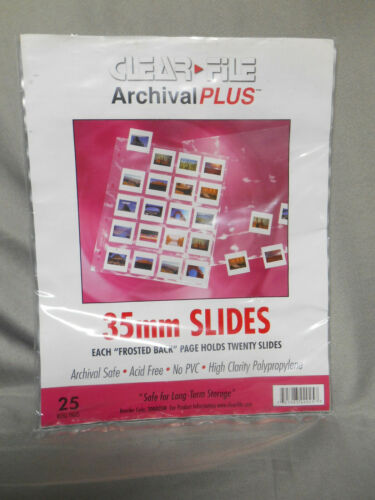 Clear File negative storage pages for 35mm film Qty23
