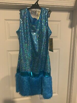 New Disguise Sesame Street Cookie Monster Costume Adult Size L Dress & Headpiece
