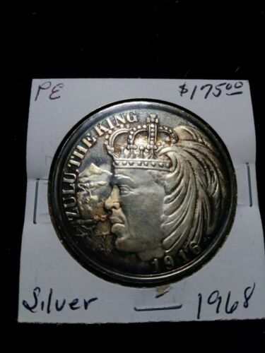 1968 Zulu (inverted reverse) Silver Doubloon - Mardi Gras