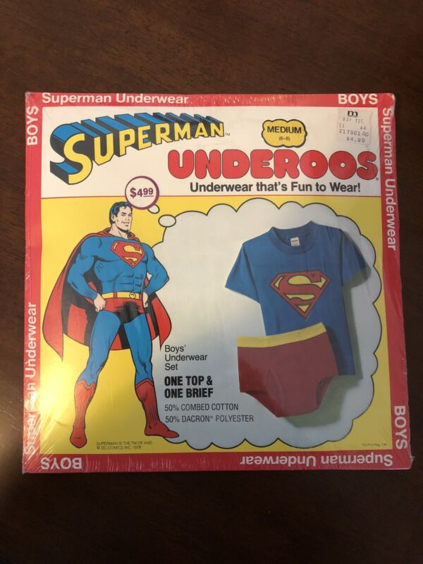 1980 Superman Underoos ( Never Opened ) Shrink Sealed Original Vintage RARE