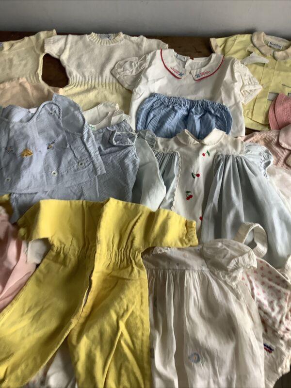 Large Vintage 1950s 1960s Infant Toddler Childrens Clothing Lot