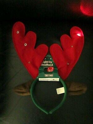 Kids Reindeer Antlers (Unique Kids Children Christmas Reindeer Antlers Light Up Headband Dan Dee)