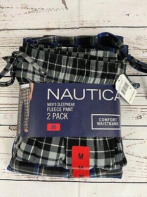 Nautica Fleece Pajama Lounge Pants Sleepwear NWT 2 Pack Men's MEDIUM 2630