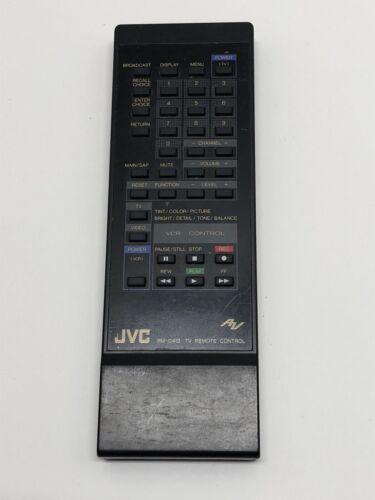 JVC RM-C413 TV VCR Remote Control for AV2057S AV26725 AV2672X AV27500 AV27650