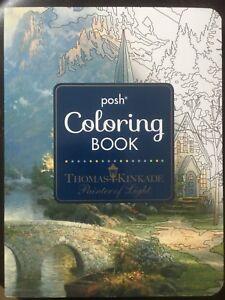 Coloring book by Thomas Kinkade