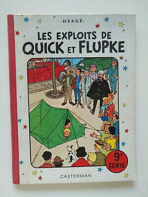 EO 1960 (bel état) - Les exploits de Quick et Flupke 9 - Hergé - Casterman