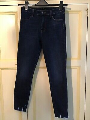 J Brand Alana High Rise Crop Skinny Jeans Size 27 Excellent Condition