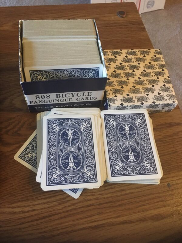 Vintage Pan Panguingue Playing Cards 808 Bicycle, Blue Set