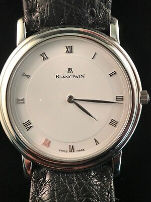 Blancpain Steel Villeret Ultra-Thin Wristwatch, used for sale  Shipping to India