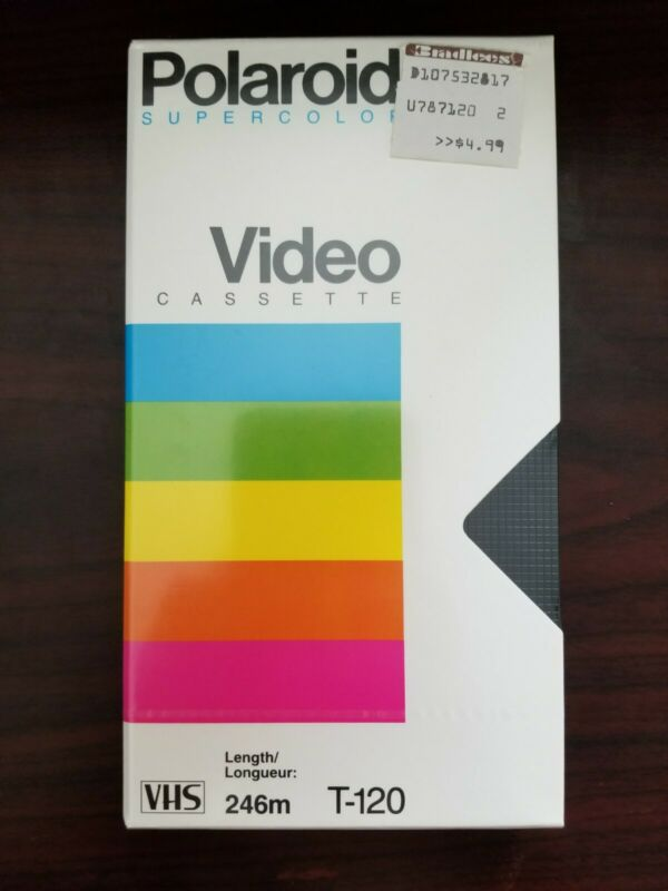 Blank Polaroid Supercolor Video Cassette VHS Tapes ~ T-120 ~ NEW SEALED