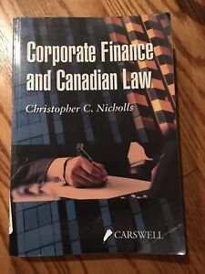 Corporate finance & Canadian law