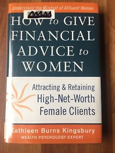 Hardcover - How to Give Financial Advice to Women
