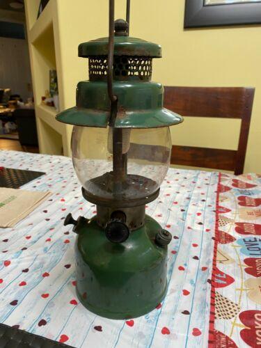 Coleman lantern 242c September 1945 green paint, rare WW2 era, vintage
