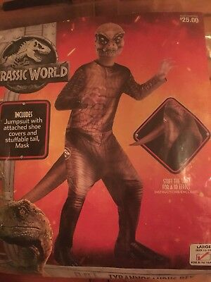 Jurassic World Fallen Kingdom T-Rex Halloween Costume Kids L 12-14 Tyrannosaurus
