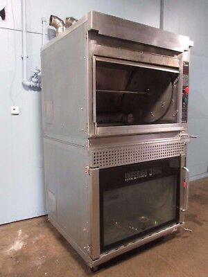 Hardt Inferno 3500 Commercial Nat-gas Dbl Stack Rotisserie Ovens Wauto Clean